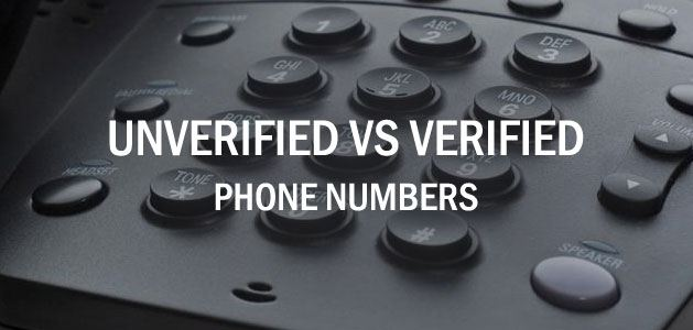 Unverified vs Verified Phone Numbers