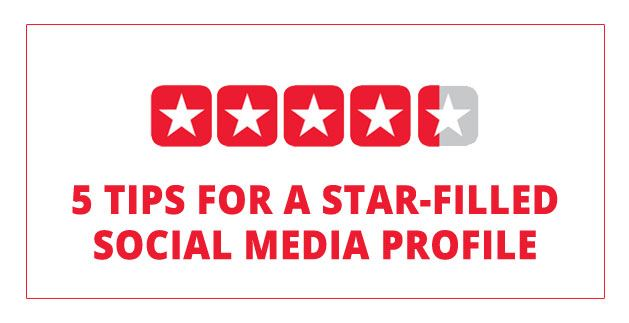 5 tips for a Star Filled Social Media Profile